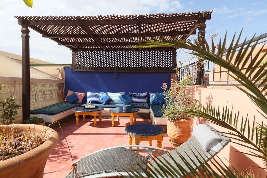 Roof top of Riad Antoine