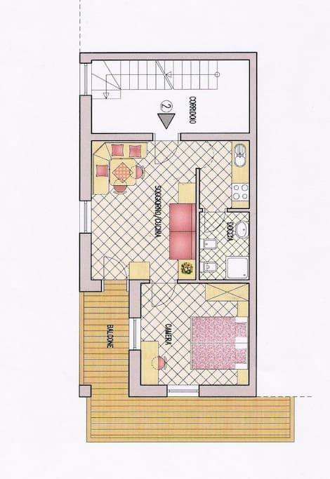 piantina del' appartamento