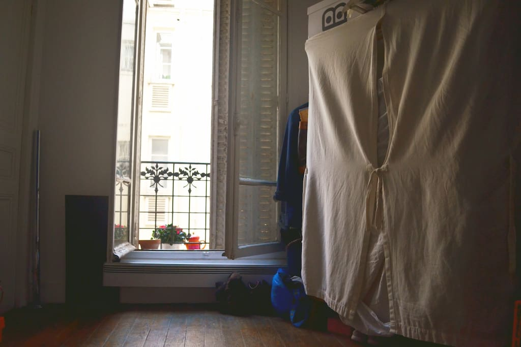 Still your room ! Its a beautiful typical parisien room ! measuring 11m2 with one big window showing the yard