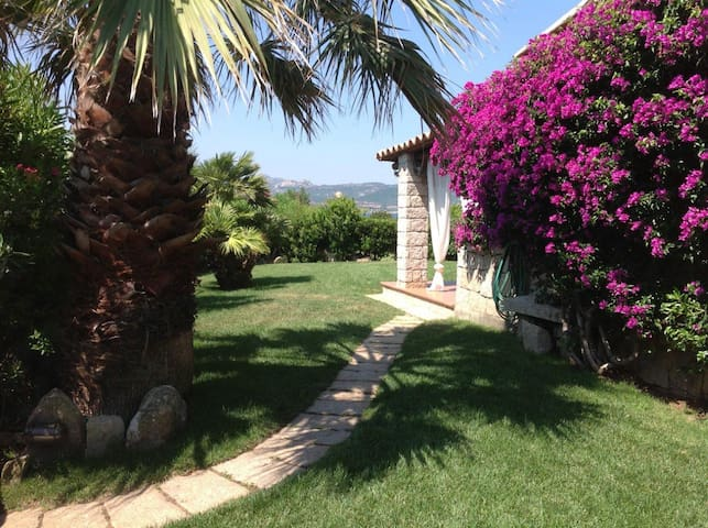 Holiday Apartment with Fantastic Garden, Sea View and Air Conditioning