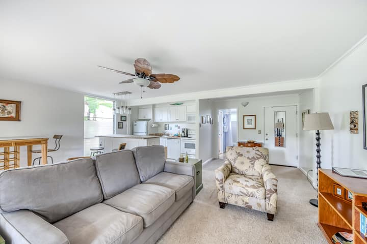Oceanfront Getaway w/ a Furnished Patio, Shared, Outdoor Pool, & Free WiFi