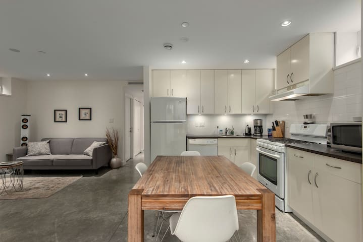 Modern Two Bedroom and Two Bathroom Suite Near UBC