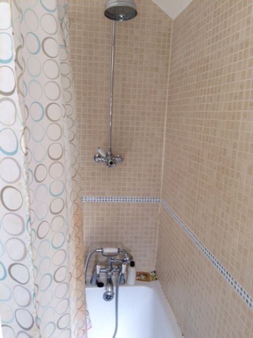 Shared bath / shower room directly opposite your room.