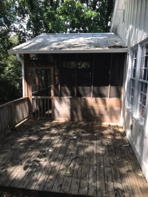 Back porch with private entrance