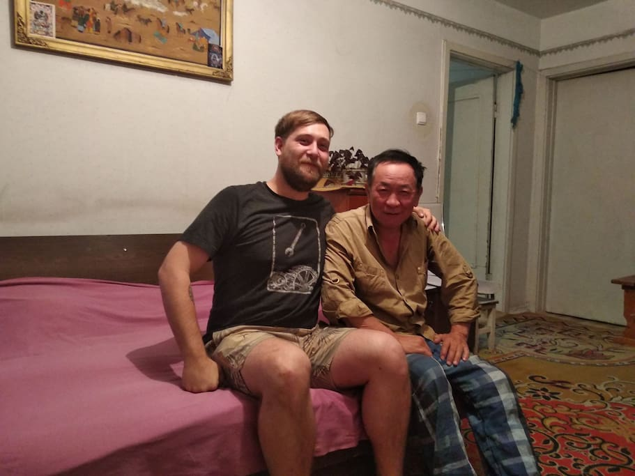 My husband and guest from Australia