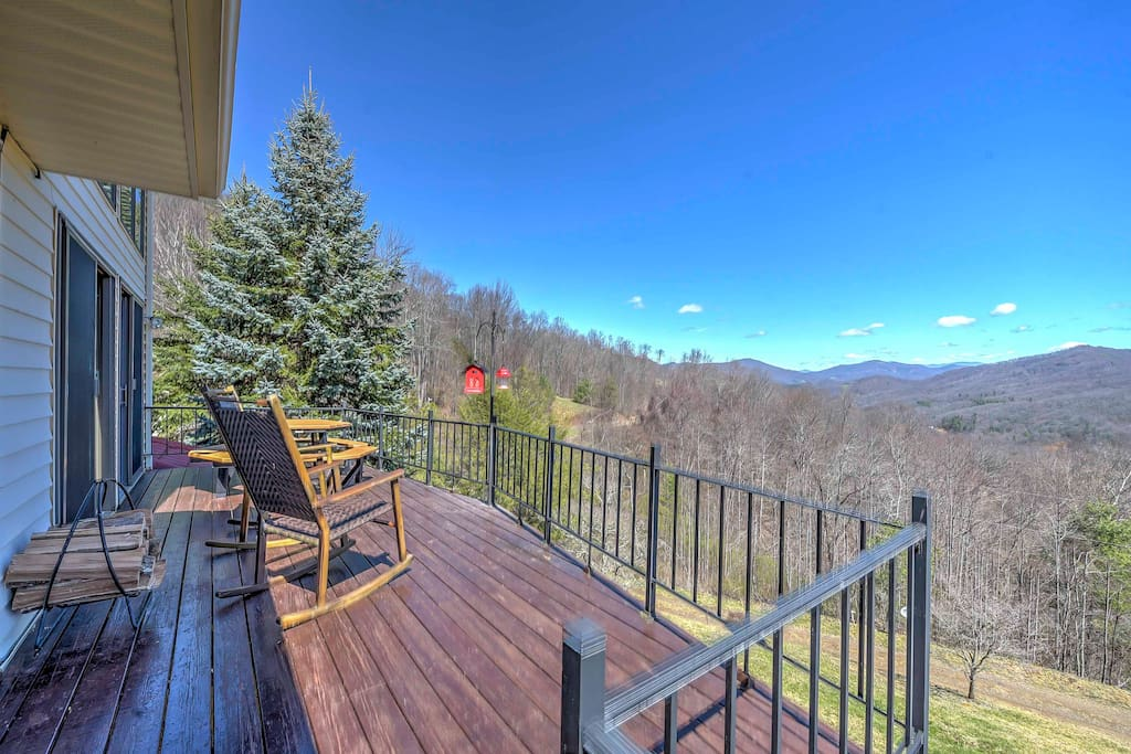 Take in the fresh air from the deck.
