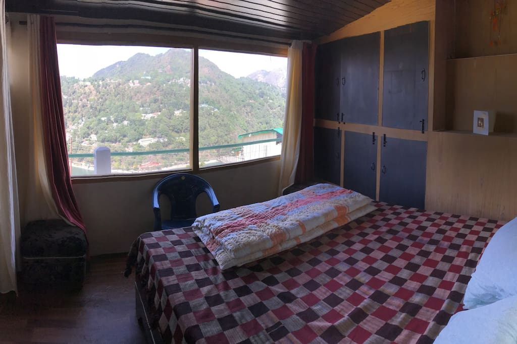 View from Bed cum living room