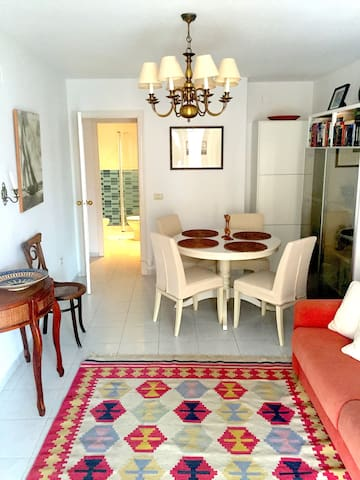 Cool, cozy coastal apartment