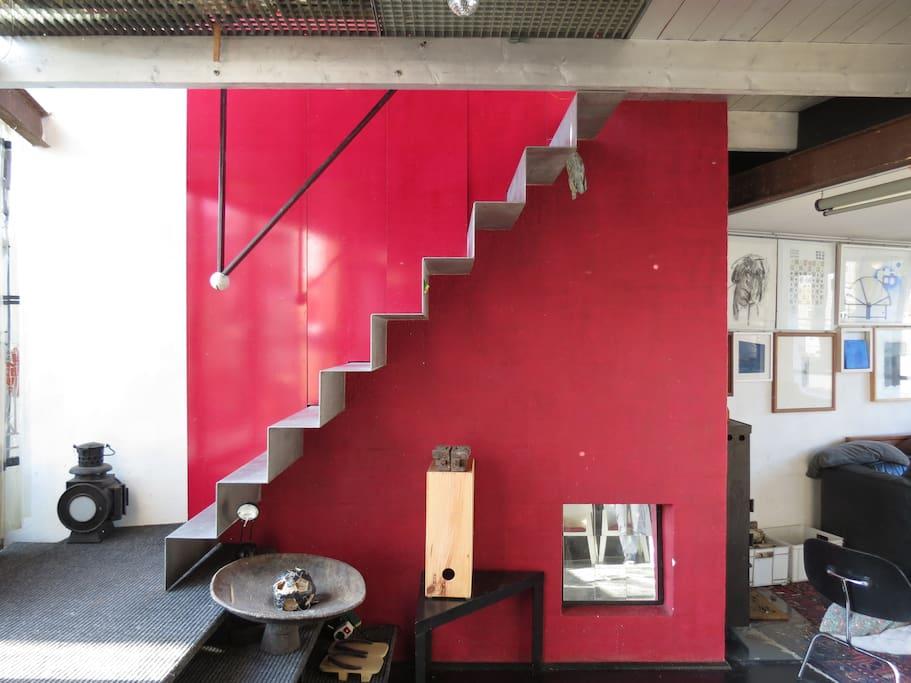 Wohn atelier dach maisonette 135 qm auf 2 ebenen lofts - Wohn und esszimmer auf 20 qm ...