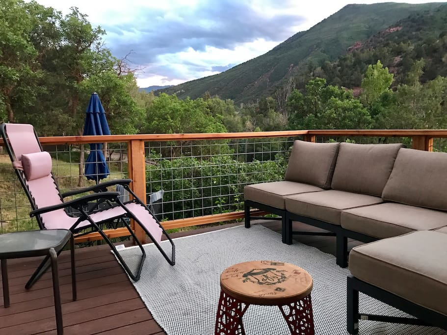 Great Views on the new Trex deck and couch.