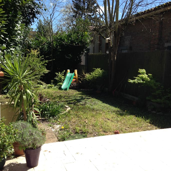 Jardin 100m² privatif