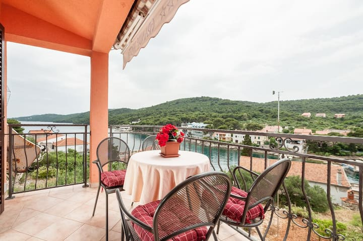 Two bedroom apartment with terrace and sea view Božava, Dugi otok (A-8124-a)