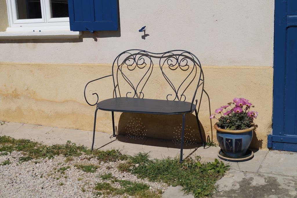 Pour se reposer dans le jardin.