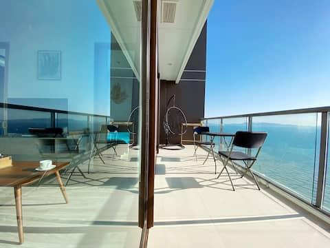 """A Room with a View"" 看得见风景的房间PattayaSeaView亲子家庭超大间"