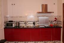 Cocina con vitrocerámica