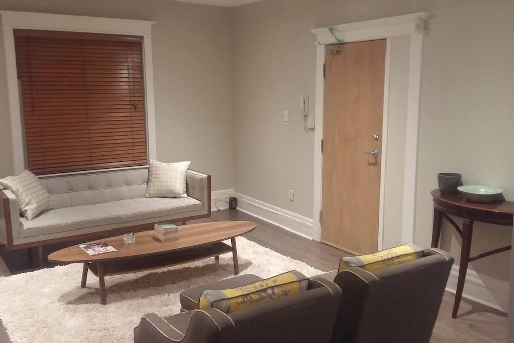 Ample seating area in newly furnished living room