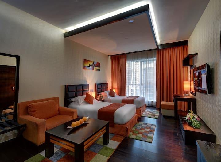 Classy Deluxe Studio located inside hotel apartmen