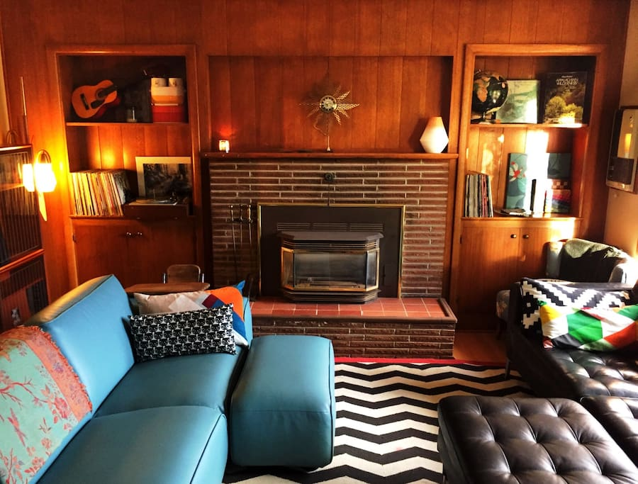 Living room of mid-century bliss