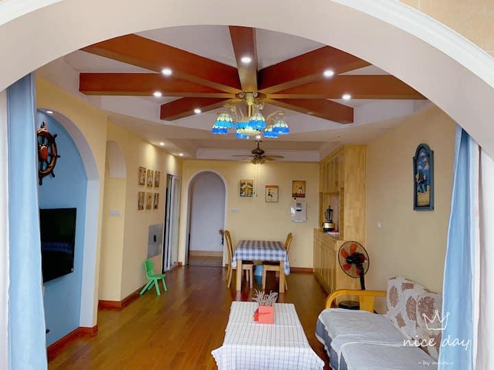 地中海小清新两厅三房智能公寓