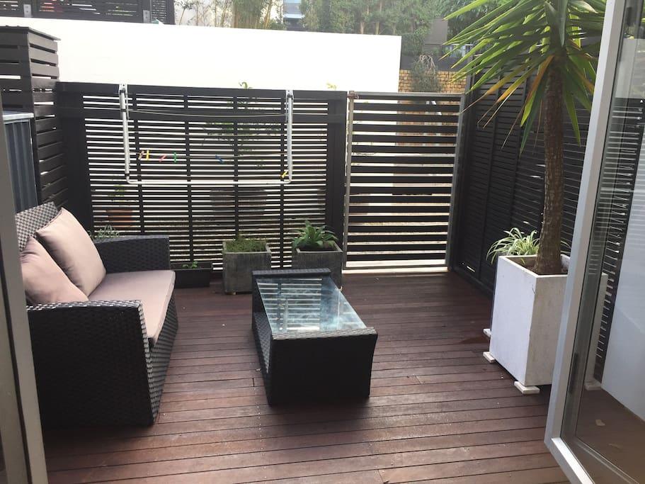 Private balcony off room