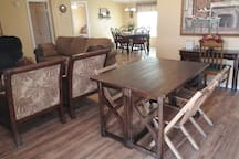 Extra table & chairs