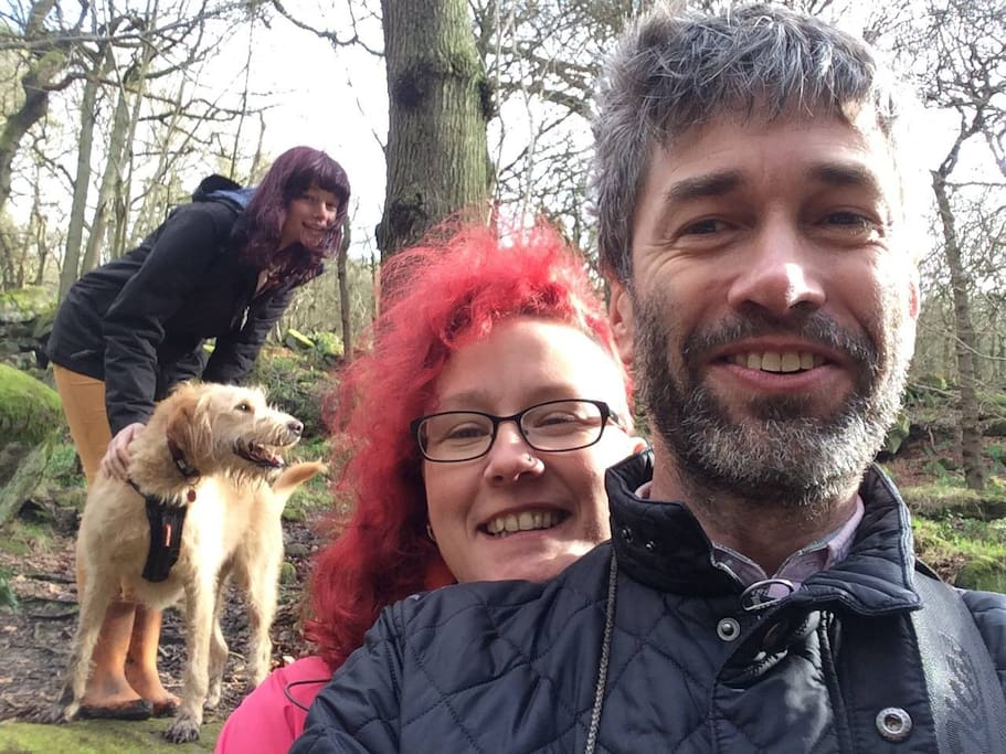 Nick, Sarah, Flossie and two dogs live here too!