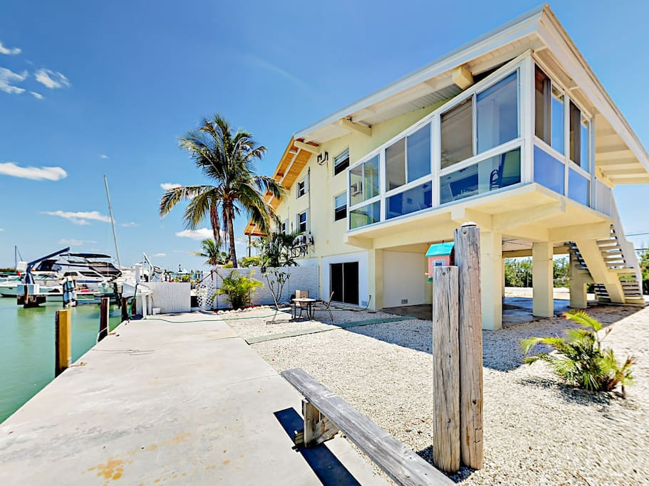 This gorgeous waterfront duplex is perched beside Boot Key Harbor, professionally managed and maintained by TurnKey Vacation Rentals.