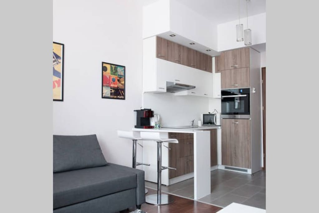 Small but well-equiped kitchen
