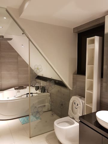 Private lift, jacuzzi steam bath and kitchen