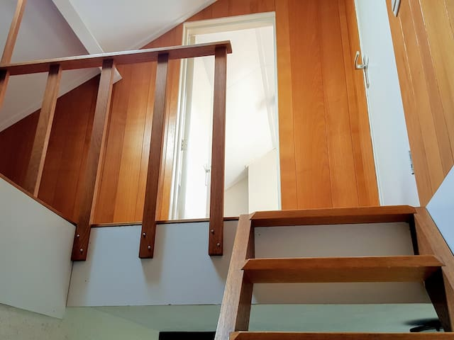 Stairs to the attic room