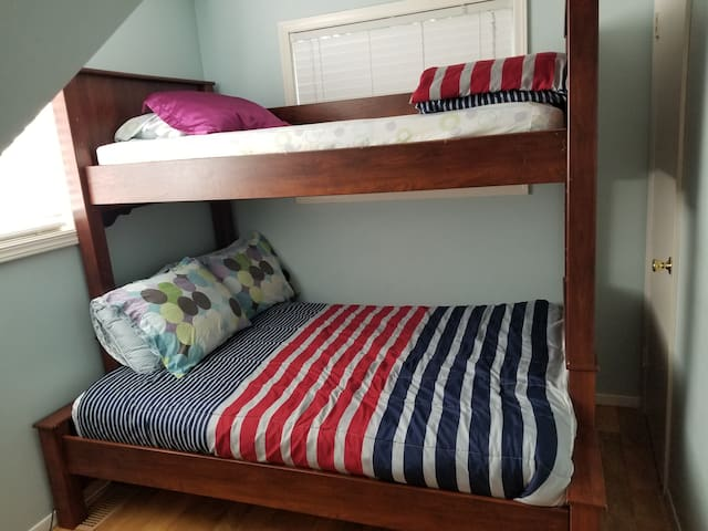 Twin over full bunk bed  second room