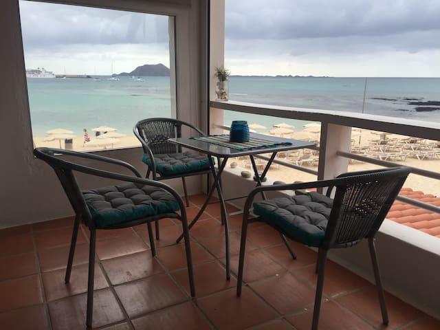 Un balcón en la playa