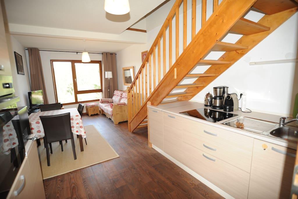 Charmant duplex 6 8 pers xonrupt avec 2 chambres for Piscine xonrupt longemer