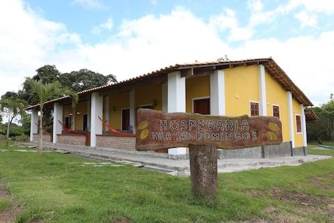 Hospedaria Rural (Apt. 1) em fazenda histórica