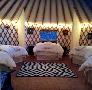 Amazing Yurt for 6 in a Redwood Forest Eco-Retreat - 博尔德溪(Boulder Creek) - 蒙古包