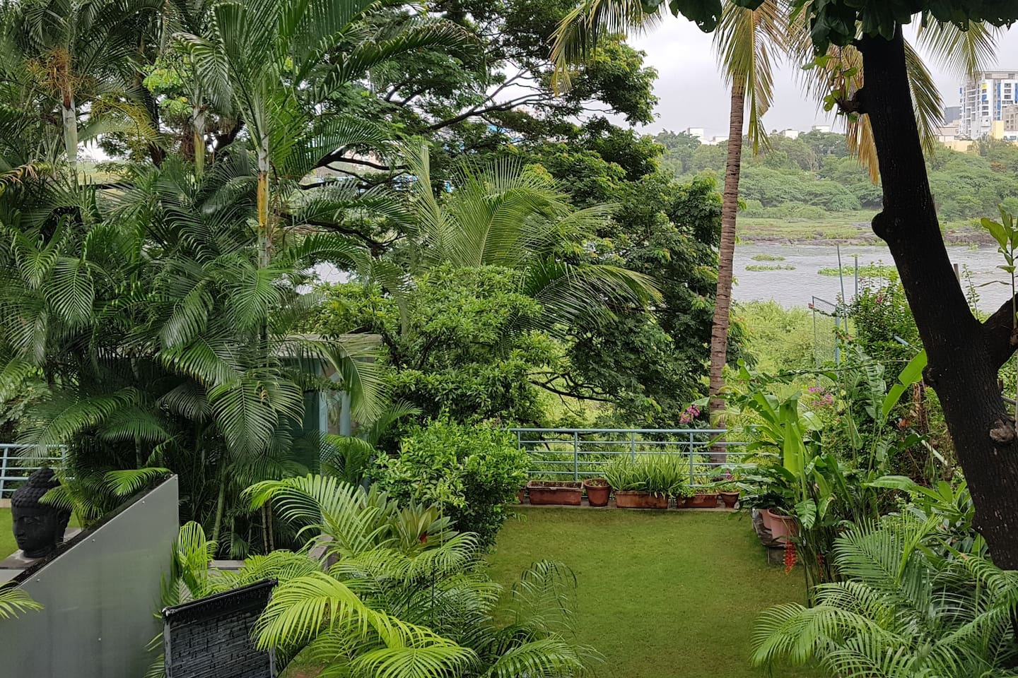 Spectacular Garden and River View from the room.