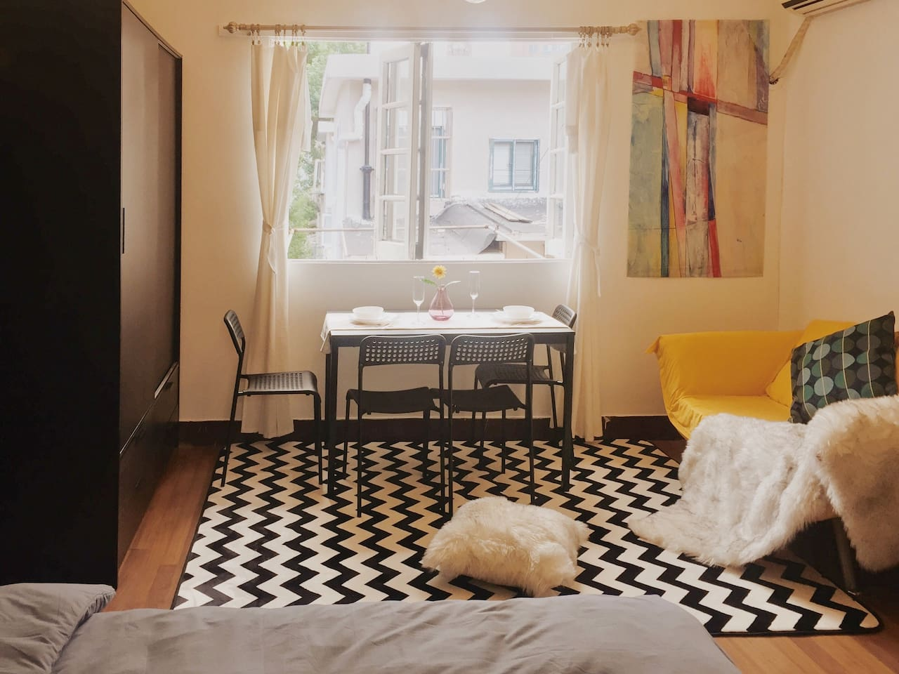 Cozy room in Downtown【K&T House】5min to 4 stations