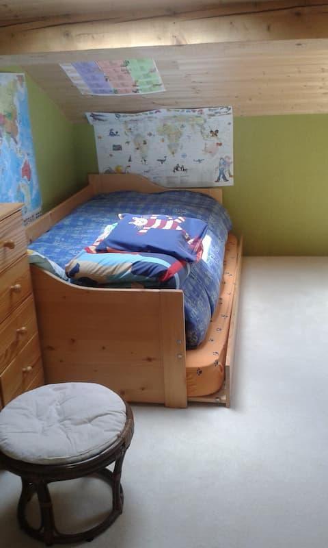 Chambre 2mn du parc Montjuzet 15 mn du centre