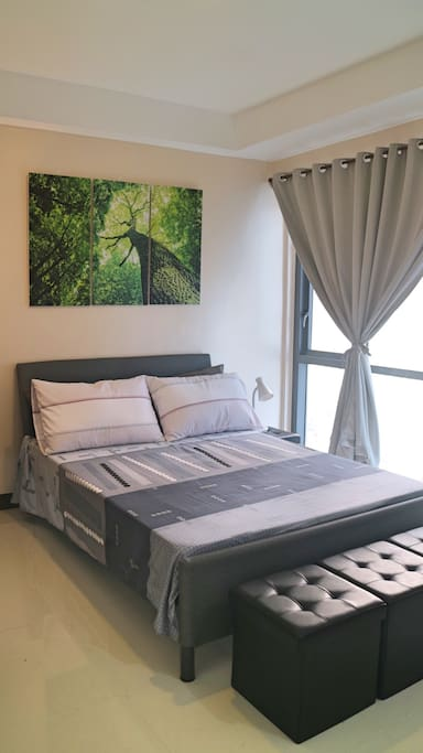 Relaxing Bedroom with Semi-Blackout Curtains