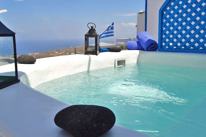 Kalo villa, Jacuzzi, Direct sea view