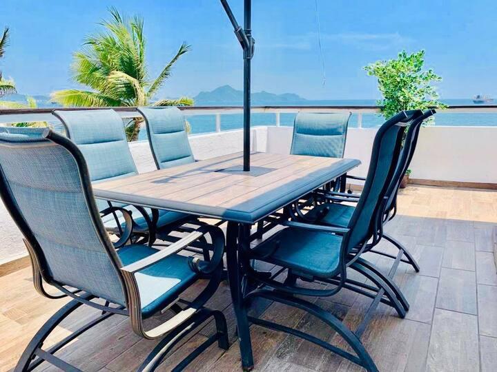 Loft en Manzanillo, con vista al mar y terraza