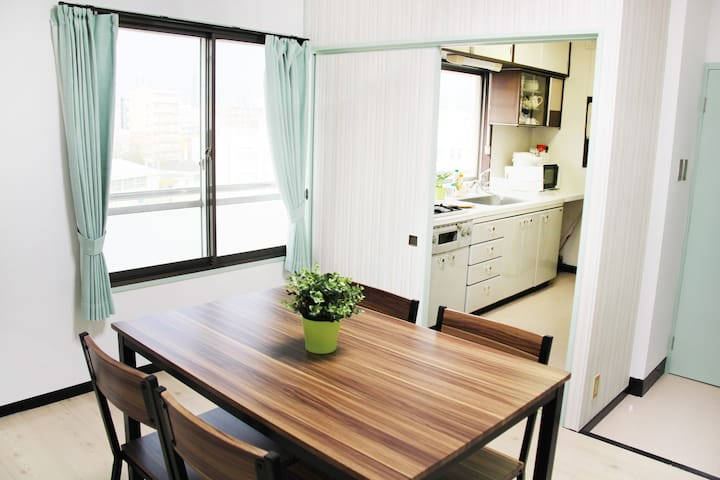 9 BEDS & 3 BEDROOMS! 5 mins to USJ OSAKA!! - Fukushima-ku, Ōsaka-shi - Appartement
