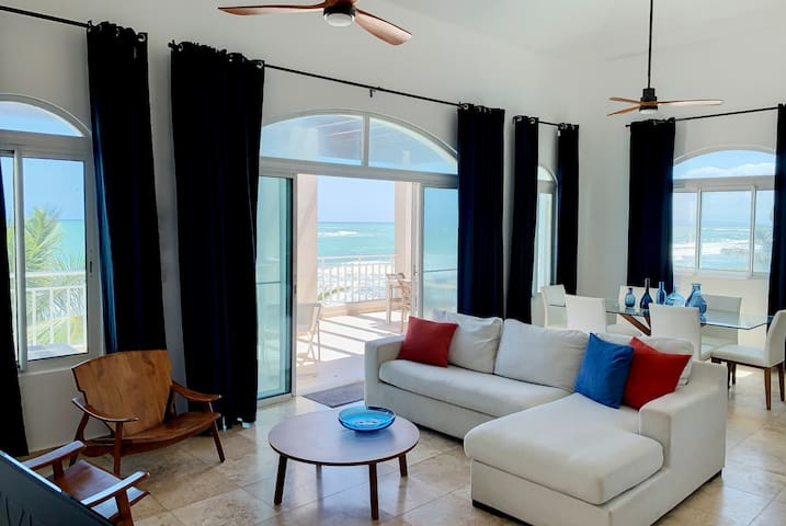 HGTV featured Beachfront Penthouse in Cabarete