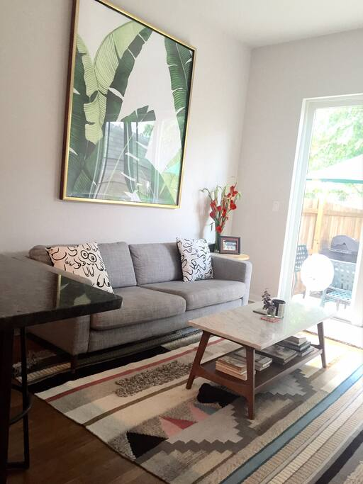 Living Room opens into patio