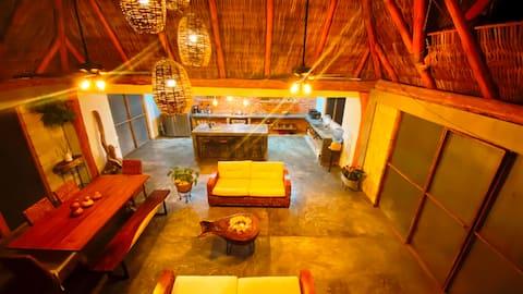 Cabaña para 6 con Alberca a solo 3 min de la Playa de Chacala Nayarit