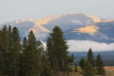 Campsite w/trailer, cabin, & views. - Leadville