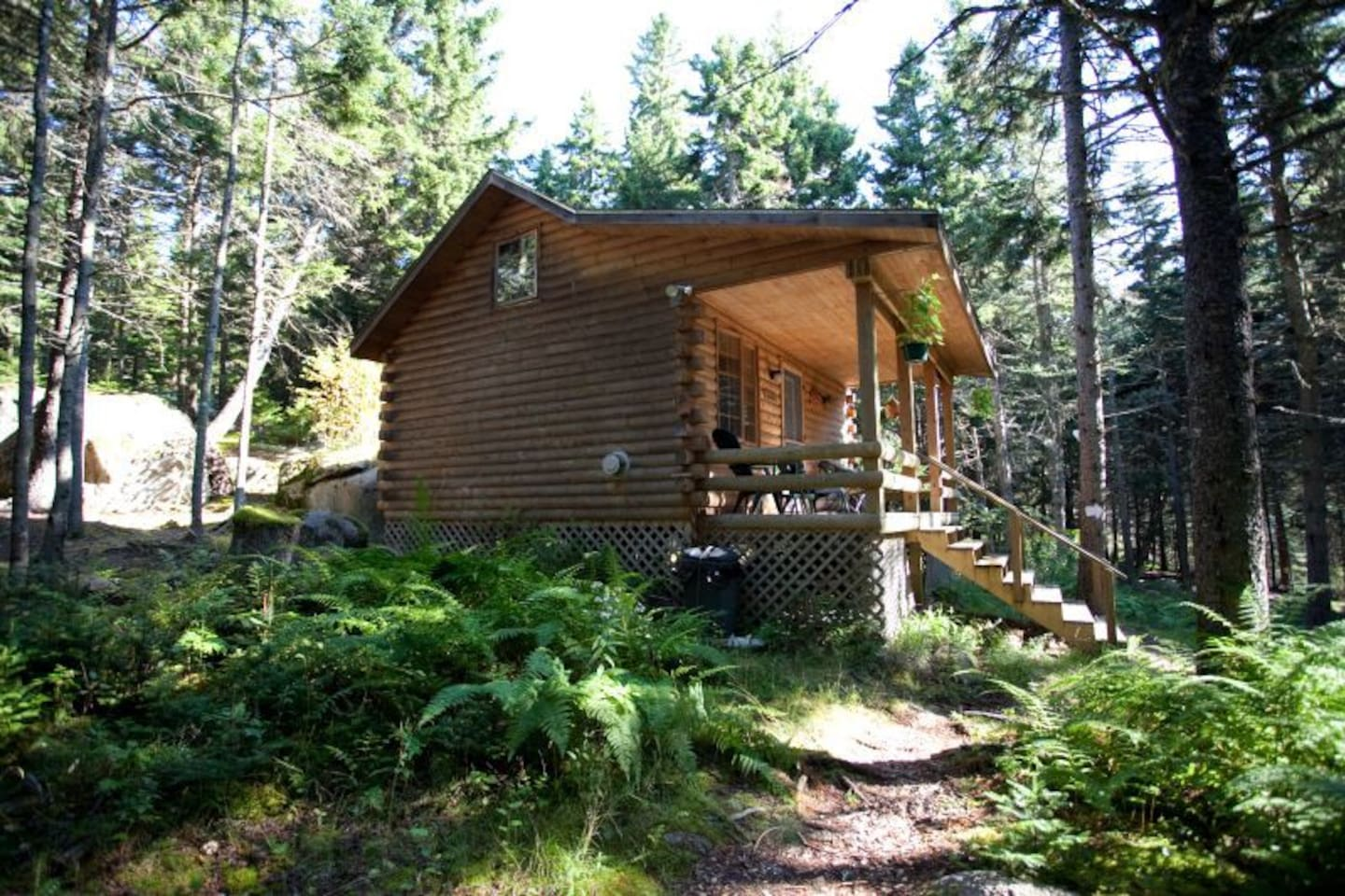 View of Cabin from path entering.
