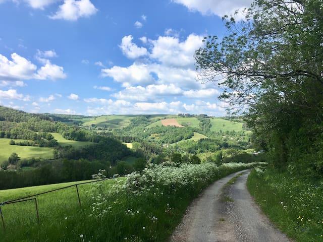 En haut de la vallée