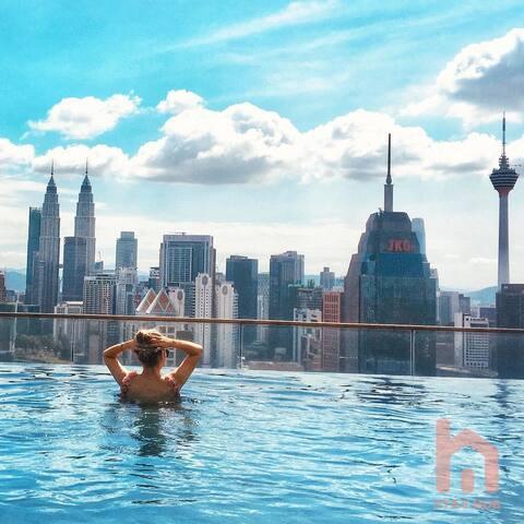 Z5_KLCC View Home Sharing_Infinity Pool KL网红无边泳池