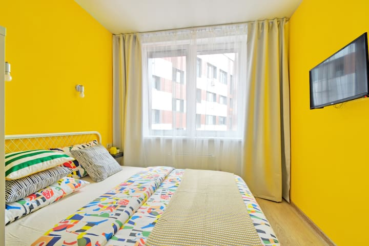 "Bright apartment near the shopping center ""Mega"""